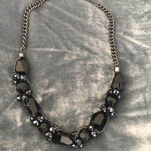 Vera Wang black statement necklace